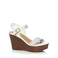 Call It Spring - White 'Canovello' high wedge sandals