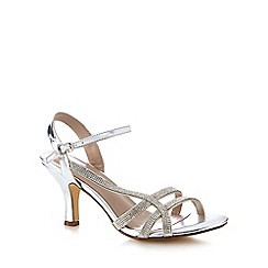 Call It Spring - Silver diamante 'Gassino' high stiletto heel ankle strap sandals