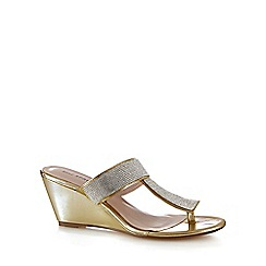Call It Spring - Gold 'Adaleri' embellished wedge mid sandals