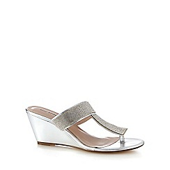 Call It Spring - Silver 'Adaleri' mid wedges