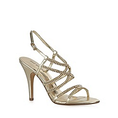 Call It Spring - Gold 'Teresa' stone strap high sandals
