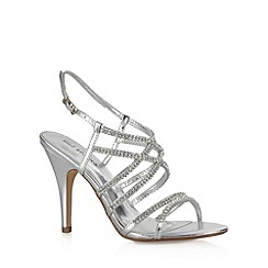Call It Spring - Silver 'Teresa' stone strap high sandals