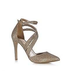 Call It Spring - Light gold 'Unega' pointed glitter high sandals
