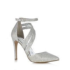 Call It Spring - Silver 'Unega' pointed glitter high sandals