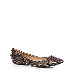 Call It Spring - Bronze 'Chaella' metallic textured heel zip pumps