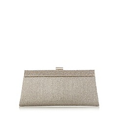 Call It Spring - Gold 'Layer' pave trim clutch bag