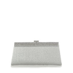 Call It Spring - Silver 'Layer' pave trim clutch bag