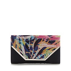 Call It Spring - Black 'Tiffany' graphic floral clutch bag
