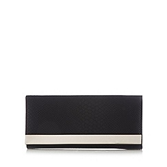 Call It Spring - Black 'Melicucco' snakeskin clutch bag