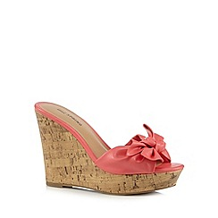 Call It Spring - Coral 'Gralivia' wedge sandals