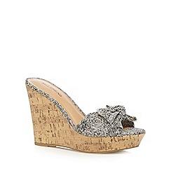 Call It Spring - Near black 'Gralivia' wedge sandals