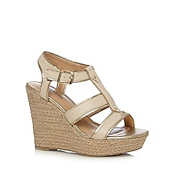 Call It Spring - Natural straw high wedge sandals