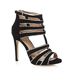 Call It Spring - Black 'Noce' caged detail high heel sandals