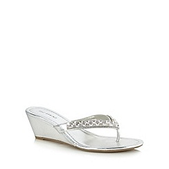 Call It Spring - Silver 'Driewen' mid wedges