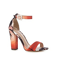 Call It Spring - Orange palm tree 'McCarney' textured high sandals