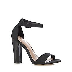 Call It Spring - Black 'McCarney' textured high sandals