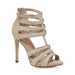 Call It Spring - Natural 'Noce' caged detail high heel sandals