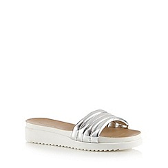 Call It Spring - Silver 'Larelisien' slip on sandals