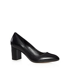 Clarks - Black 'Blissful Cloud' mid heel court shoes