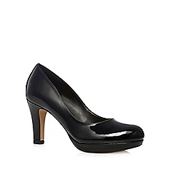 Clarks - Black 'Crisp Kendra' patent leather high court shoes