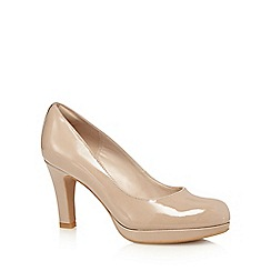 Clarks - Taupe 'Crisp Kendra' high court shoes