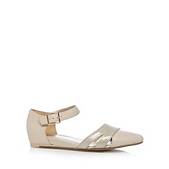 Clarks - Taupe 'Coral Sunrise' leather shoes