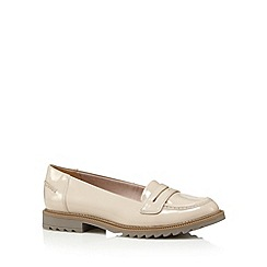 Clarks - Taupe 'Griffin Milly' slip ons