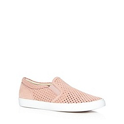 Clarks - Light pink 'Glove Puppet' suede slip on shoes