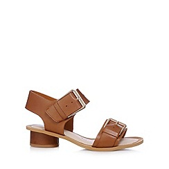 Clarks - Tan 'Sandcastle Art' mid sandals