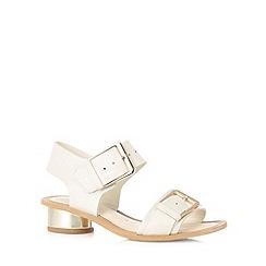 Clarks - White 'Sandcastle Art' mid sandals