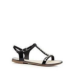 Clarks - Black 'Sail Festival' patent sandals