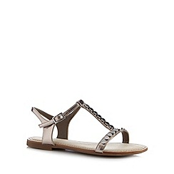 Clarks - Metallic 'Sail Festival' T-bar sandals