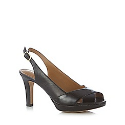 Clarks - Black 'Delsie Kala' leather high heel court shoes