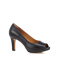 Clarks - Black 'Delsie Britta' high court shoes