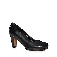 Clarks - Black 'Chorus Nights' leather mid court shoes