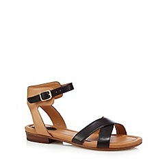 Clarks - Black 'Viveca Zeal' leather sandals