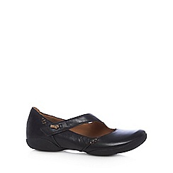 Clarks - Black 'Felicia' leather shoes