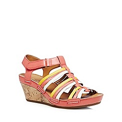Clarks - Coral 'Rusty Lady' leather wedge sandals