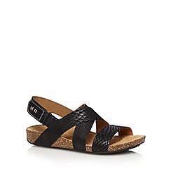 Clarks - Black 'Perri Dunes' leather sandals