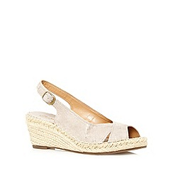 Clarks - Taupe metallic 'Petrina Leigh' mid sandals