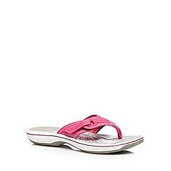 Clarks - Pink 'Brinkley Mila' flip flops