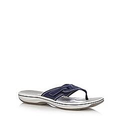 Clarks - Navy 'Brinkley Mila' flip flops