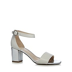 Clarks - White 'Susie Deva' leather mid sandals