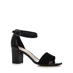Clarks - Black 'Susie Deva' suede strap mid sandals
