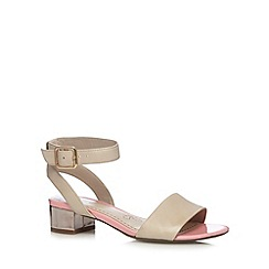 Clarks - Taupe 'Sharna Balcony' leather mid sandals