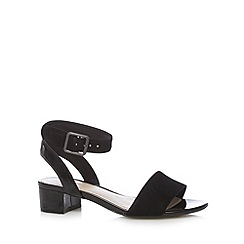 Clarks - Black 'Sharna Balcony' suede mid sandals