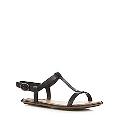 Clarks - Black 'Risi Hop' leather sandals