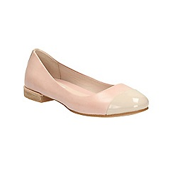 Clarks - Dusty Pink Festival Gold flat pump