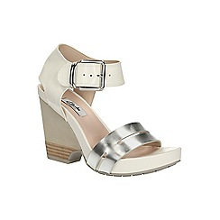 Clarks - White combi Rosalie Pose high wedge sandal