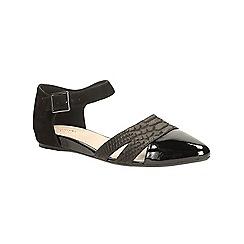 Clarks - Black comb snake Coral Sunrise flat ankle strap shoe